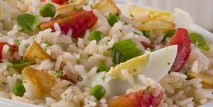 Receita de Salada de Arroz
