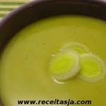 Receita da Sopa de Arroz com Alho Frances