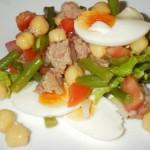 Receita de Salada de Atum, Grão e Presunto