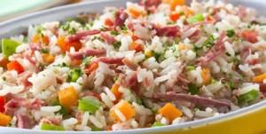 Salada de Carne, arroz e Abobora