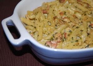 Receita de Salada de Massa Gratinada com Frango