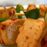 Receita de Espetadas de Beringela, pimento, alho-francês e broa
