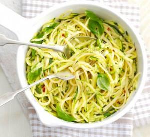 Receita de Linguini com Courgette
