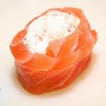 Receita de Rolinhos de arroz, salmão e courgete