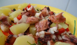 Receita de Salada de Polvo e Batata