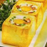 Receita de Cubinhos de ovos com ervilhas