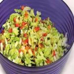 Receita de Salada com Molho de Açafrão
