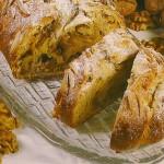 Receita de Torta de maçã e noz