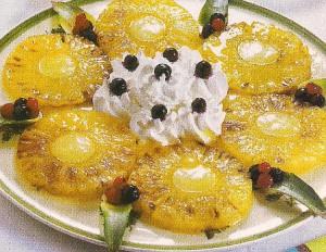Receita de Ananas Gratinado