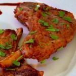 Receita de Costeletas de Borrego com puré de batata-doce