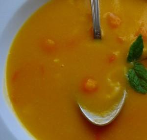 Receita de Sopa de Abobora e Grão