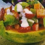 salada de frutas com papaia