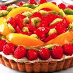 tarte de iogurte e frutas