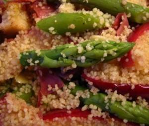 Salada Quente de Espargos e MAças