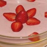 doce de natas e morangos