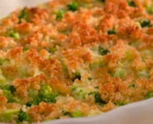 gratinado de frango com broculos