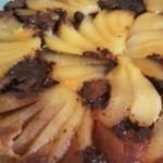 tarte de peras e chocolate