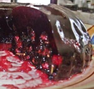gelatinas coloridas com coulis de frutas