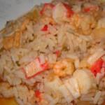 delicias mergulhadas em arroz