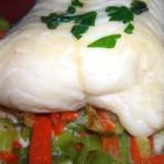 russinha com pescada e delicias do mar
