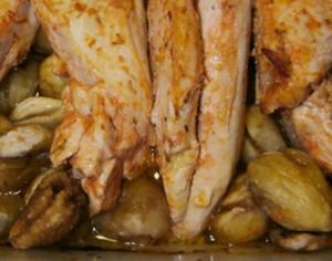 peito de frango com castanhas