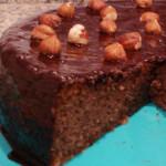 fofinho de chocolate com courgette e avelas