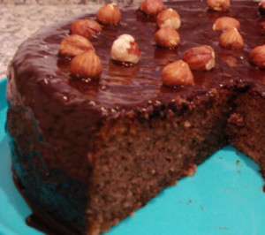 Fofinho de Chocolate com Curgete e Avelãs