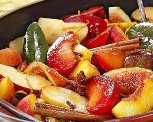 frutos tropicais gratinados