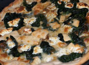 pizza de espinafres