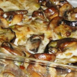 tortellini com beringelas no forno