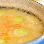 sopa rica em aroma com lentilha vermelha