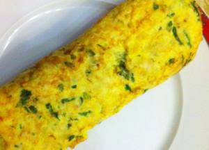 omelete de berbigao com arroz