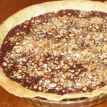 tarte de chocolate com amendoins