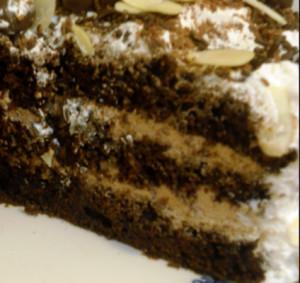 bolo com licor de cafe