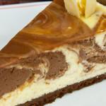 cheesecake com queijo creme e chocolate