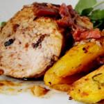lombo de porco com batata doce