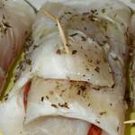 filetes enrolados com salmao
