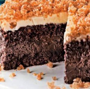delicia de chocolate com gelado