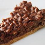 tarte de natas com cereais de chocolate