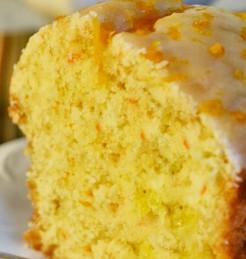 bolo de laranja vegetariano
