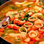 caldeirada com frutos do mar