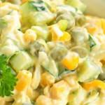 salada de milho com molho de iogurte
