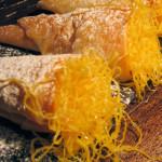 cones recheados com ovos moles