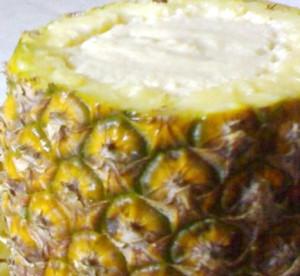 mousse de ananas