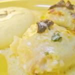 pescada em molho de tomilho com esparguete