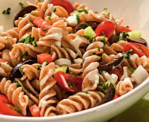 salada de massa colorida