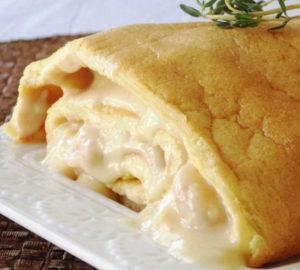 torta de bacalhau e camarao